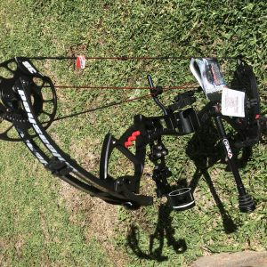 PSE Stinger Extreme 55′ Field Ready Black – Canga Archery